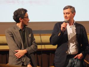 Alberto Lastrucci, il direttore del Festival dei Popoli, con Sergei Loznitsa
